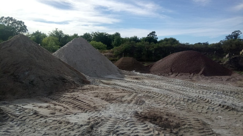 arena pedregullo relleno de terreno oferta