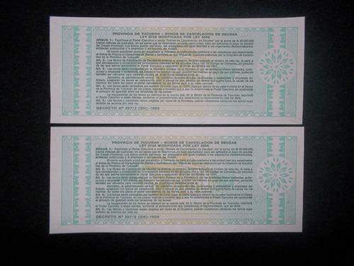 argentina, 1 austral 1991 - tucuman - (unc) x2 correlativos