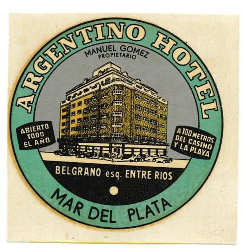 argentina mar del plata lote 2 autoadhesivos hoteles luggage