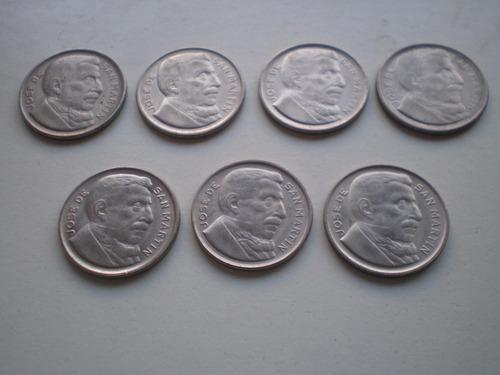 argentina moneda 20 centavos 1951 y 1952 canto estriado c/u