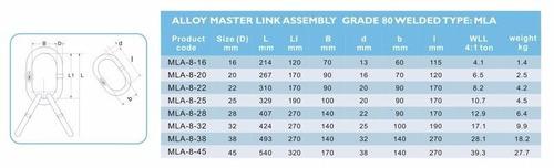argolla principal para 3 y 4 ramales gr80 6.7ton able