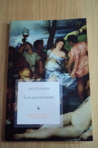 aristófanes. los acarnienses. edición anotada. gredos