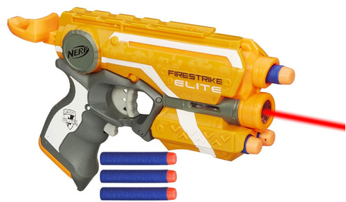 arma nerf n-strike elite firestrike com mira laser  3 dardos