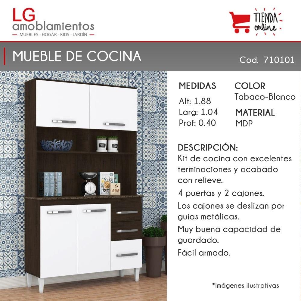 Armario Mueble De Cocina Kit Multiuso Aparador - $ 3.295,00 en ...