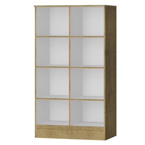 armario multiuso bajo 8 estantes 2 puertas  61x110x36 cm