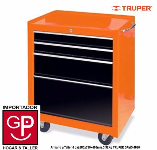 armario para taller 4 cajones truper gamo-4090 g p
