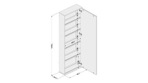 armario zapatera espejo colgar estante mobelstore