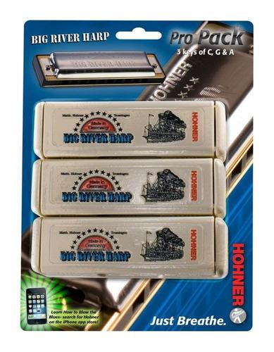 armonica set hohner c/g/a big river harp