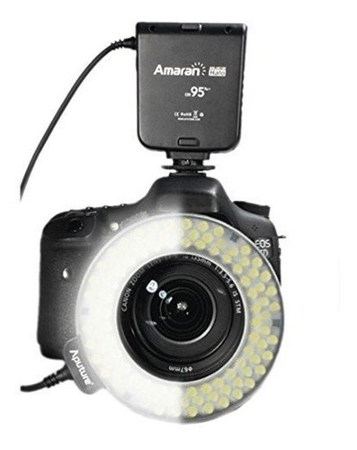 aro flash led aputure amaran halo ahl-hn100 p/cámara nikon
