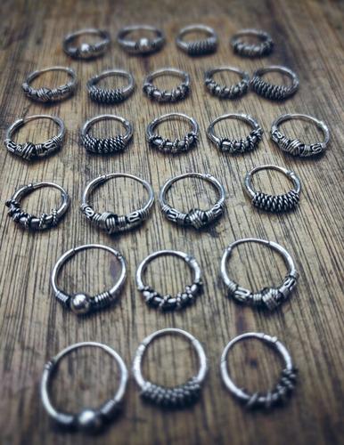 aros de plata 925 labrados