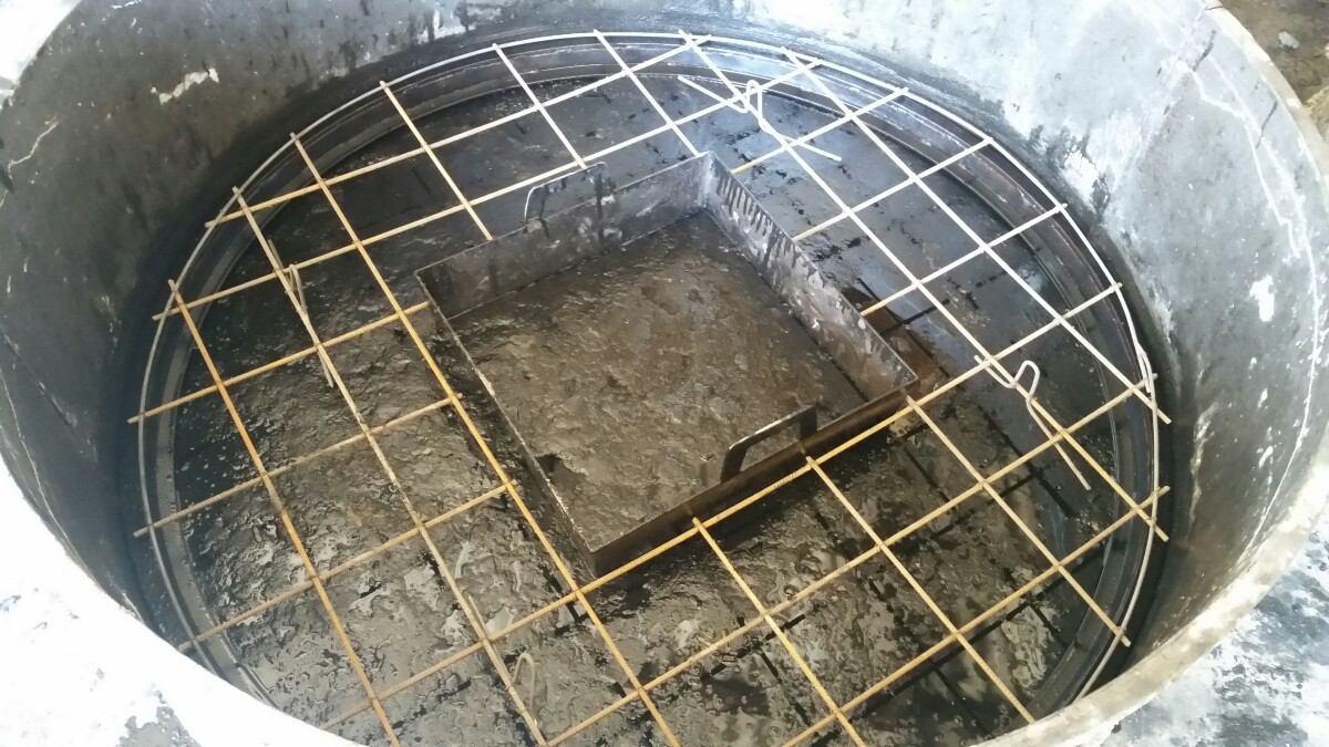 Aros de hormigon para pozo negro con armadura for Cuanto sale hacer una piscina de cemento