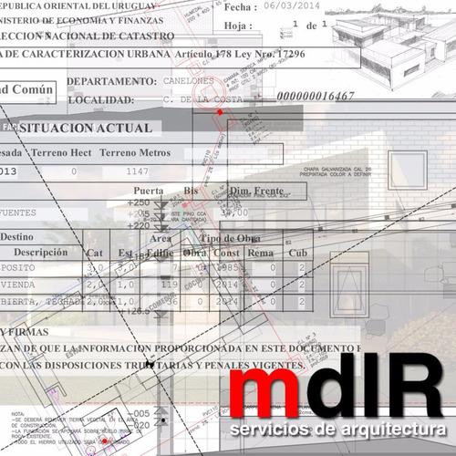 arquitecto caracterización urbana regularizaciones