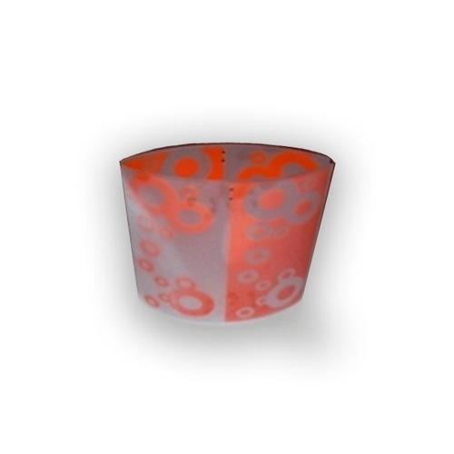 artefacto colgante vidrio burbujas naranja 30x30x14