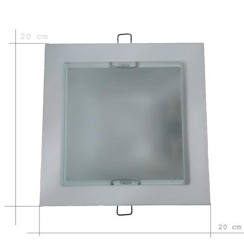 artefacto de embutir cuadrado con lamparas led 7w