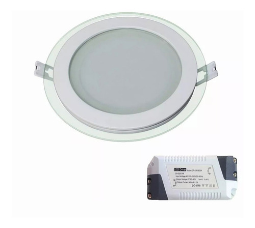artefacto led borde cristal + driver led - 6 watt - serie l