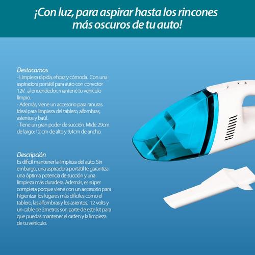 aspiradora para auto 12v con filtro oferta irresistible loi