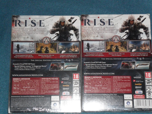 assassin's creed 3 esp. edition-original nuevo foto real pc