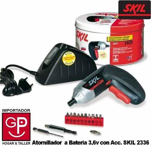 atornillador a bateria 3,6v c/ accesorios skil 2336