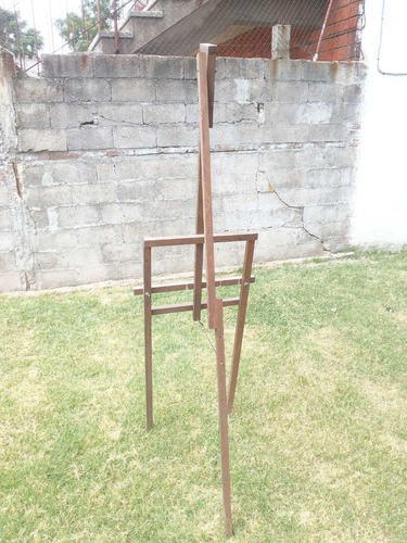 atril caballete de pintor madera maciza 175 cms regulable