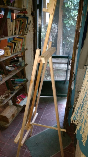 atril caballete pintor artista regulable 170cm con paleta