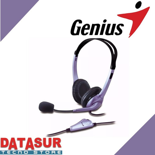 audifonos c/microfono genius hs-04s single jack 3.5 mm