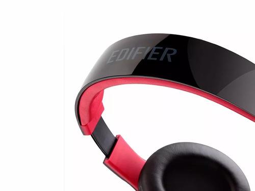 auricular edifier k830 negro cómodo ajustable micrófono