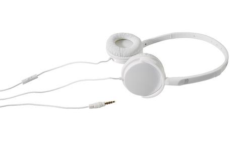 auricular vincha confort blanco con botton pick up