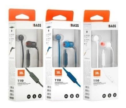 auriculares manos libres jbl t110 pure bass sound calidad ®