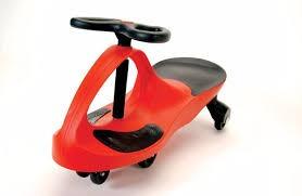 auto deslizador plasmacar - buggy triciclo azul o rojo