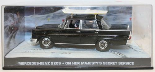 auto james bond 007 mercedes benz 220s escala 1:43 colección