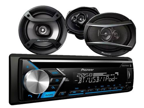 auto pioneer radio deh-4050bt +ts-1634r+ts-a6966s #oca
