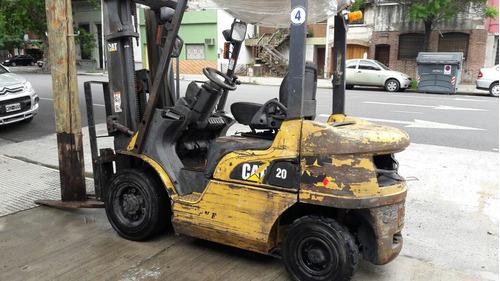 autoelevador caterpillar dp20 2008 diesel torre triple