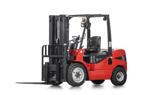 autoelevador equus 2.5t diesel torre doble 3m