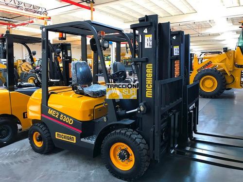 autoelevador michigan nuevo 2.5 toneladas diesel desplazador