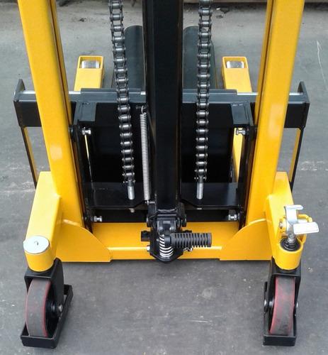 autoelevador montacarga apilador 1.6 metros 1000/1500kg