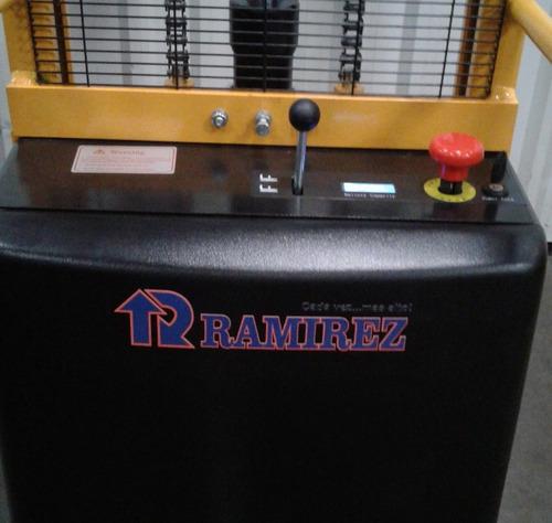 autoelevador montacarga apilador semielectrico 1.6mts 1000kg