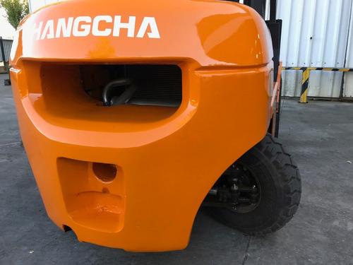 autoelevador montacarga hangcha usado 2.500kg