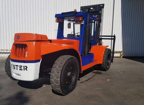 autoelevador montacarga usado marca hyster 17000kg diesel