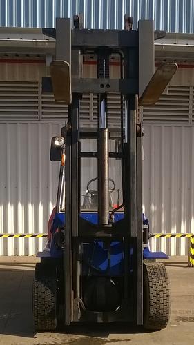 autoelevador montacarga usado marca hyster 5000kg diesel