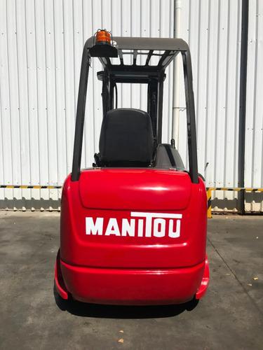 autoelevador montacarga usado marca manitou 1800kg electrico