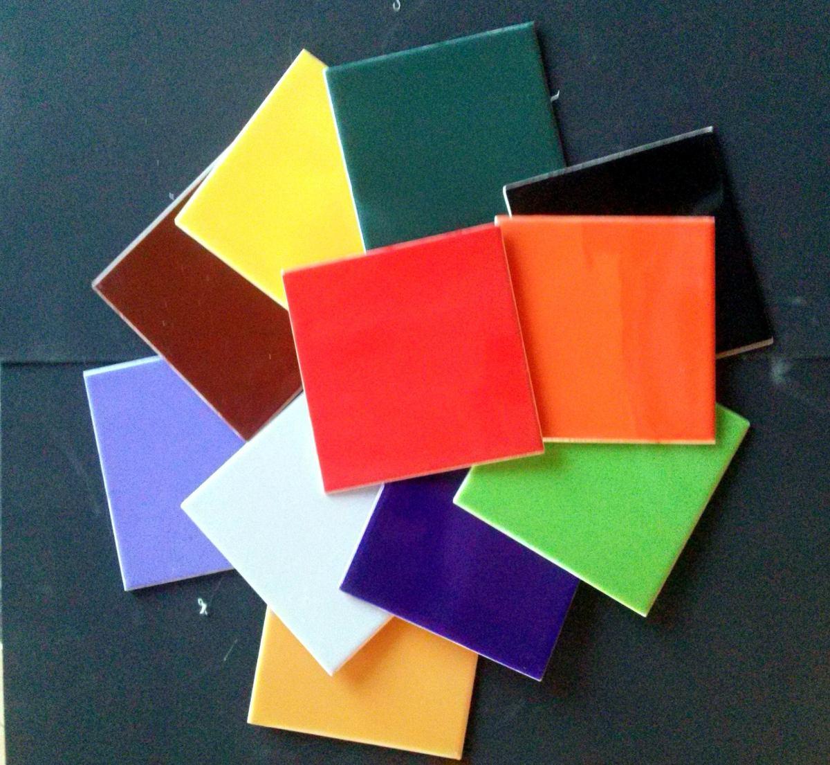 Azulejos De Ceramica De Colores Baldosas 15x15 Para Mosaico 140