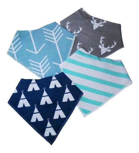 babero bandana con broche para bebes