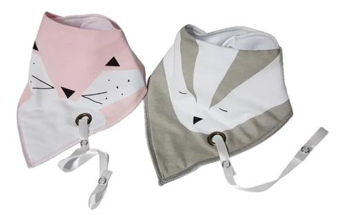 babero bandana con cinta de chupete portachupete bebe