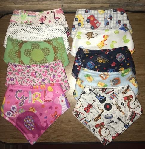 baberos bandana para bebés, ¡¡promo pack x 5!!