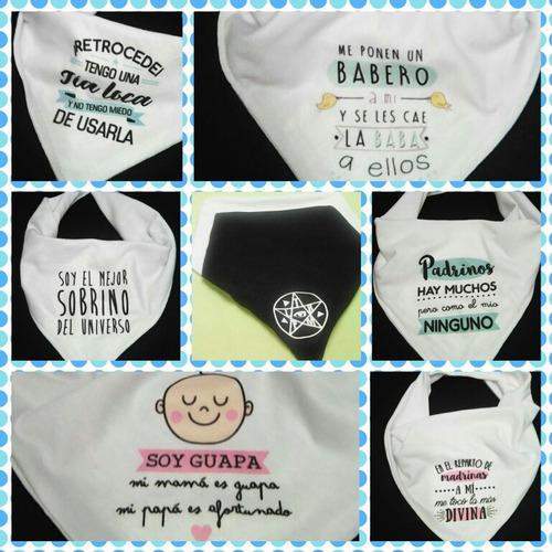 baberos bandanas! bebes, niños. personalizados o con dedicat