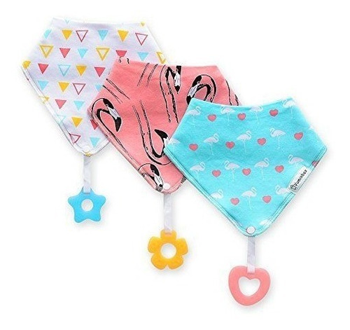 baby bandana drool baberos para drooling y dentición 3 pack