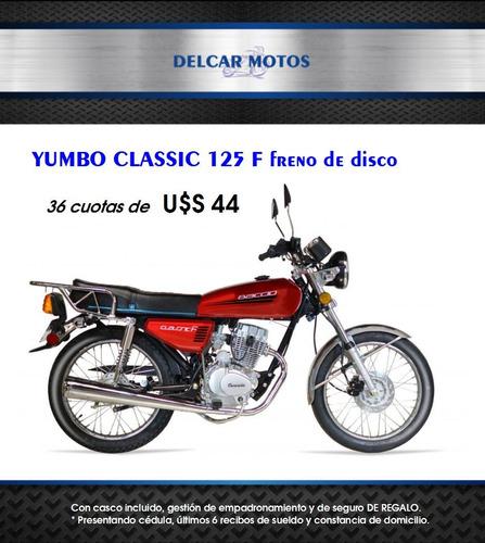 baccio classic 125 f financiación 36 cuotas delcar motos