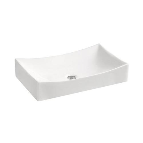 bacha de apoyo rectangular blanca loza