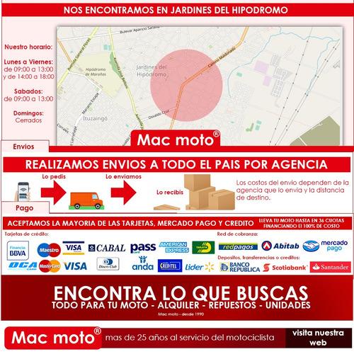 bajaj pulsar 200 rs - negra unica en uruguay - mac moto