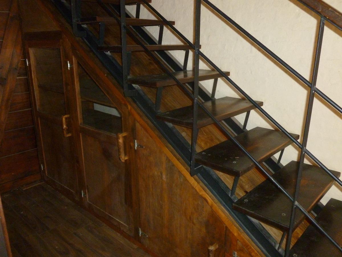 Bano Bajo Escalera.Bajo Escalera Repisas Banos Pasa Plato Cocina Madera Rustica